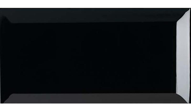 metro-csempe-10×20-cm-fenyes-fekete-ribesalbes-negro-brillo