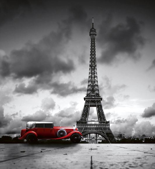 retro car in parisMS-3-0027